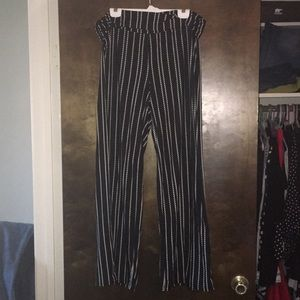 Black and White Cotton Pants